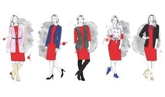 Czerwona sukienka-ikona