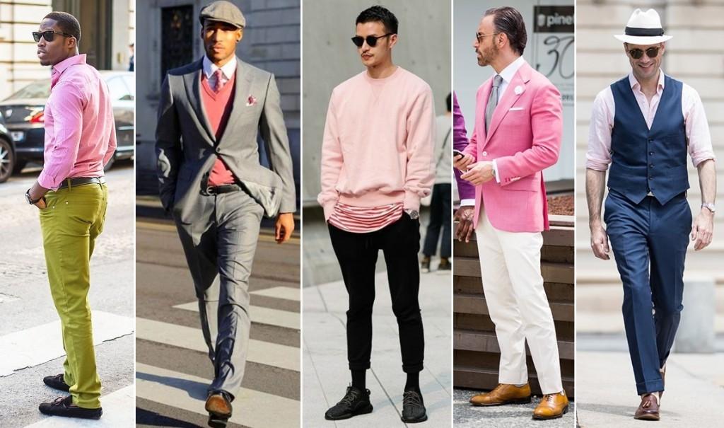 Róż w stylizacjach dla panów